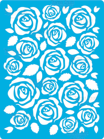 סטנסיל- Roses the background of maxi #192