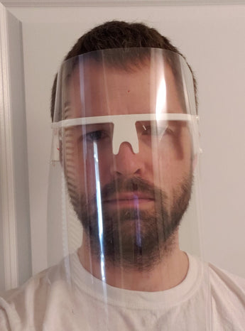 Design: Henneman v1 3D Printed Face Shield (no need for holes/clips/bands)