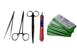 Suture Instrument Kit (Tools & Sutures)