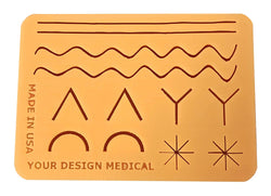 Large 3-Layer Suture Pad with Wounds -- 2018 Version (7 x 5