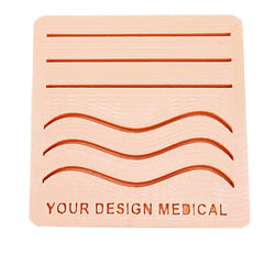 Medium 3-Layer Suture Pad with Wounds (4x4