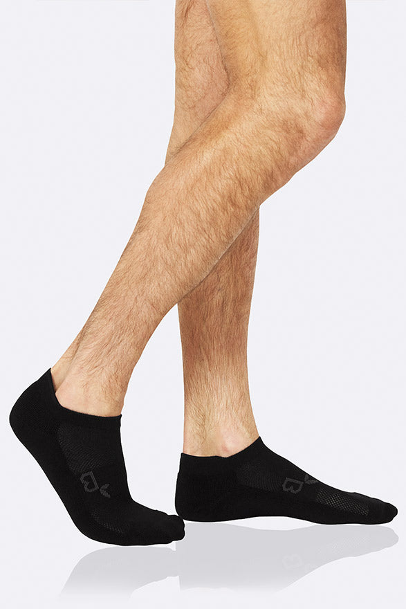 Boody Men's Active Bamboo Sports Sock in Black, Size UK 6-11-bamboofeet