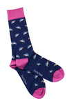Shark Bamboo Socks in Royal Blue by Swole Panda, Size 4-7