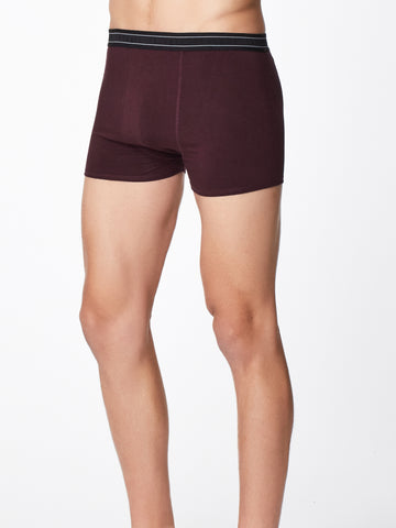 Men's Arthur Plain Bamboo Boxers in Aubergine by Thought-bamboofeet