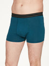 Men's Arthur Plain Bamboo Boxers in Majolica Blue, Sml, Med, Lrg & XL, by Thought-bamboofeet