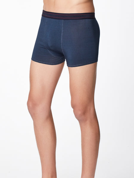 Men's Stripe Bamboo Boxers in Saphire Blue by Thought-bamboofeet