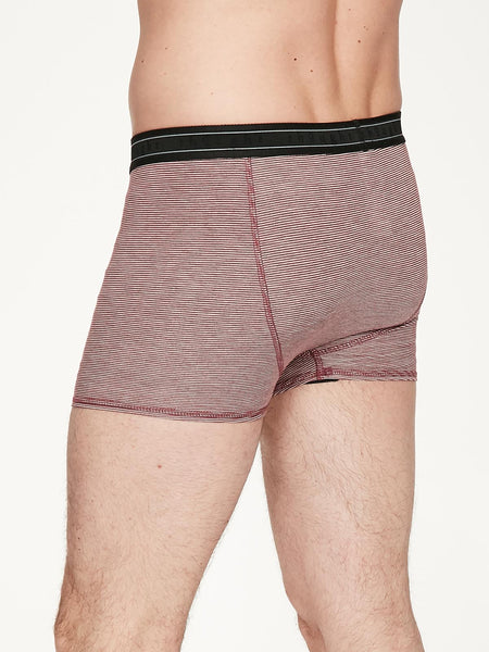 Men's Stripe Michael Bamboo Boxers in Ruby Red, Sml, Lrg & XL, by Thought-bamboofeet