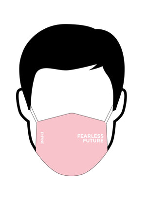 Fearless Future Organic Cotton Face Mask in Soft Pink by Phyne-bamboofeet
