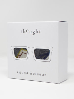Study Bamboo Glasses Socks Box by Thought, Size 7-11-bamboofeet