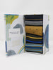 Eric Stripe and Spot Organic Cotton 4 Pack Socks Gift Box by Thought-bamboofeet