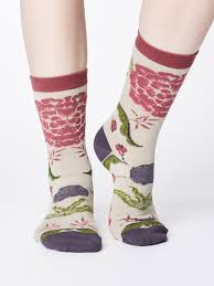 Floral Bamboo Socks Gift Box by Thought, Size 4-7-bamboofeet