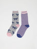 Luna Horse Bamboo Organic Cotton Blend 2 Sock Pack by Thought-bamboofeet