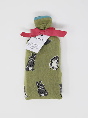 Bunny Socks in a Bag Bamboo Organic Cotton Blend 2 Sock Pack by Thought-bamboofeet