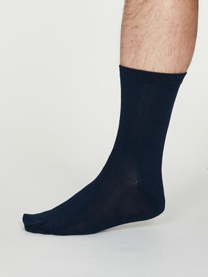 Jimmy Plain Bamboo Socks in Navy by Thought-bamboofeet