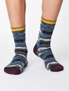 Whippet Bamboo Socks in Mid Grey Marle by Thought, Size 7-11-bamboofeet