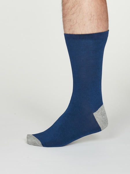 Solid Jack Bamboo Socks in Cobalt Blue by Thought, Size 7-11-bamboofeet