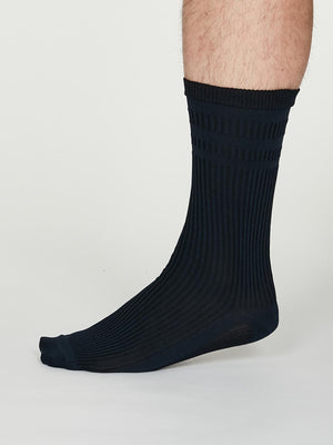 Benedict SeaCell™ Modal Diabetic Socks in Navy Blue by Thought-bamboofeet