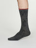Wallace Bamboo Music Socks in Dark Grey Marle by Thought, Size 7-11-bamboofeet