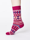 Viktoir Organic Wool Socks in Cyclamen by Thought, Size 4-7-bamboofeet