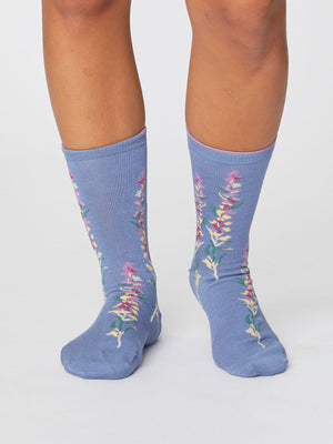Florie Super Soft Bamboo Socks in Sea Blue by Thought-bamboofeet
