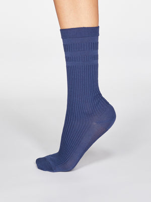 Beatrice SeaCell™ Modal Diabetic Socks in Indigo by Thought-bamboofeet