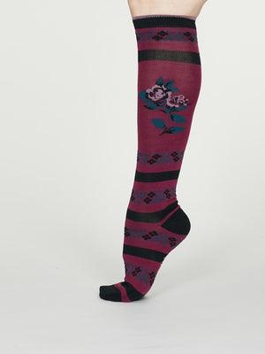 Denise Bamboo Knee Sock in Vivid Magenta by Thought Size 4-7-bamboofeet