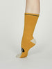 Rebecca Pug Dog Fuzzy Animal Recycled Socks in Mustard by Thought, Size 4-7-bamboofeet