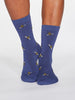 Rhoda Bee Bamboo and Organic Cotton Blend Socks in Mineral Blue by Thought-bamboofeet