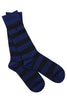Charcoal Grey and Navy Striped Bamboo Socks by Swole Panda Size 4-7