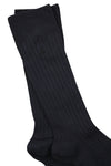 Plain Ribbed Bamboo Socks in Navy by Swole Panda-bamboofeet