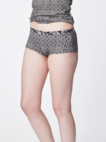 Feenie Womens Bamboo Boyleg Briefs in Graphite by Thought-bamboofeet