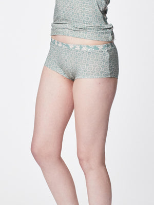 Feenie Womens Bamboo Boyleg Briefs in Mint by Thought-bamboofeet