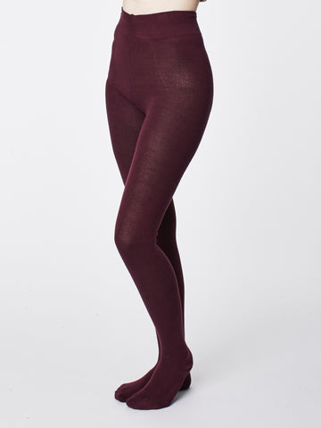 Elgin Bamboo Tights in Bilberry by Thought-bamboofeet