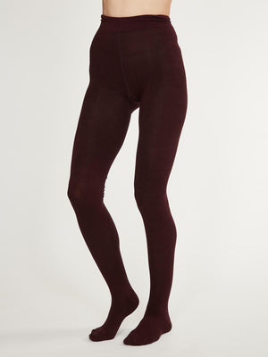 Elgin Bamboo Tights in Fig by Thought-bamboofeet
