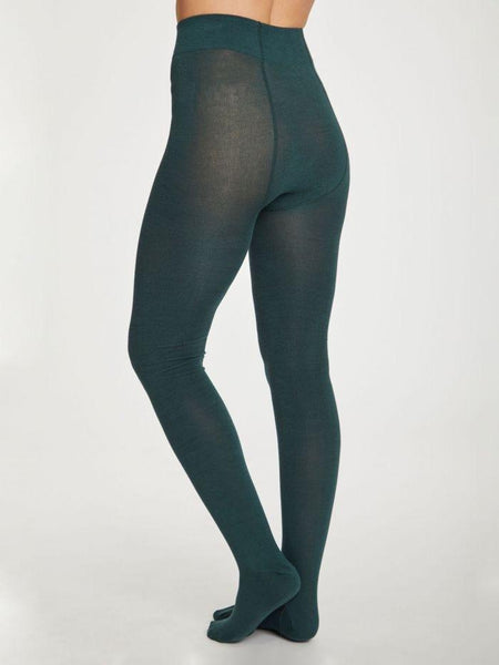 Elgin Bamboo Tights in Deep Teal by Thought-bamboofeet