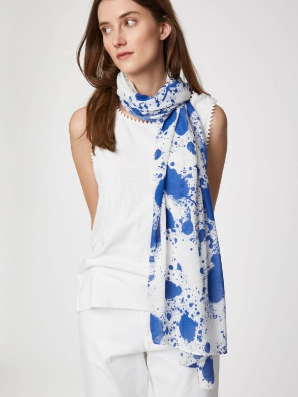 Pollock Bamboo Splash Print Scarf by Thought-bamboofeet