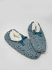 Kristie Printed Jersey Slipper in Sage Green by Thought-bamboofeet