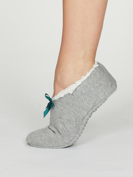 Rilke Jersey Slipper in Grey Marle by Thought-bamboofeet