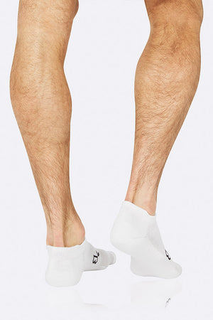 Boody Men's Active Bamboo Sports Sock in White, Size UK 6-11-bamboofeet
