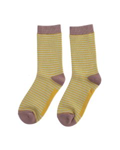 Mini-Stripes Bamboo Socks by Miss Sparrow, Size UK 4-7-bamboofeet