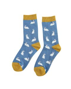 Rabbits Bamboo Socks by Miss Sparrow, Size UK 4-7-bamboofeet