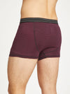 Men's Stripe Michael Bamboo Boxers in Bilberry, Small, by Thought-bamboofeet