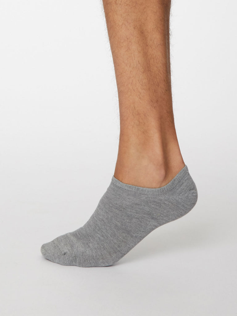 Ashley Bamboo Trainer Sock in Mid Grey Marle by Thought, Size 7-11-bamboofeet