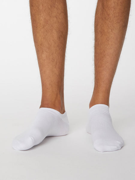 Ashley Bamboo Trainer Sock in White by Thought, Size 7-11-bamboofeet