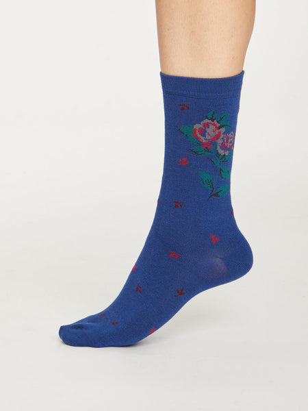 Rosie Flower Bamboo Socks Gift Box by Thought, Size 4-7-bamboofeet
