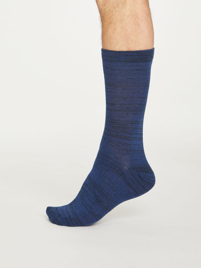 Lisketh Organic Cotton Socks in Midnight Navy by Thought, Size 7-11-bamboofeet