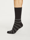 Organic Cotton Walker Socks in Dark Grey Marle by Thought, Size 7-11-bamboofeet