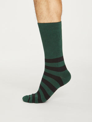 Organic Cotton Walker Socks in Forest Green by Thought, Size 7-11-bamboofeet