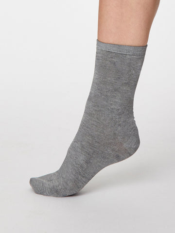 Solid Jackie Bamboo in Mid Grey Marle by Thought - Size 4-7-bamboofeet