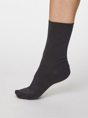 Solid Jackie Bamboo in Black by Thought - Size 4-7-bamboofeet